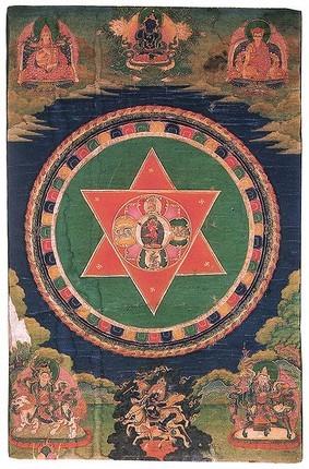 Vajravahi mandala Tiibtist 19. sajand